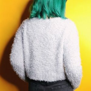Mossimo Supply Co. Sweaters - Cropped Fuzzy Sweater